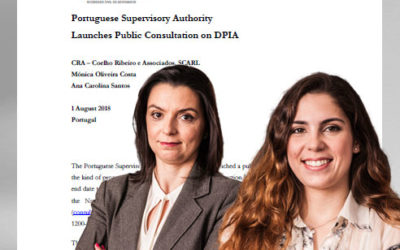 Portuguese Supervisory Authority launches public consultation on DPIA (agosto 2018)