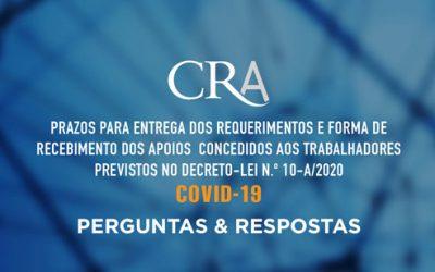 Prazos para Entrega dos Requerimentos e Forma de Recebimento dos Apoios Concedidos aos Trabalhadores Previstos no Decreto-Lei N.º 10-A/2020 | COVID-19