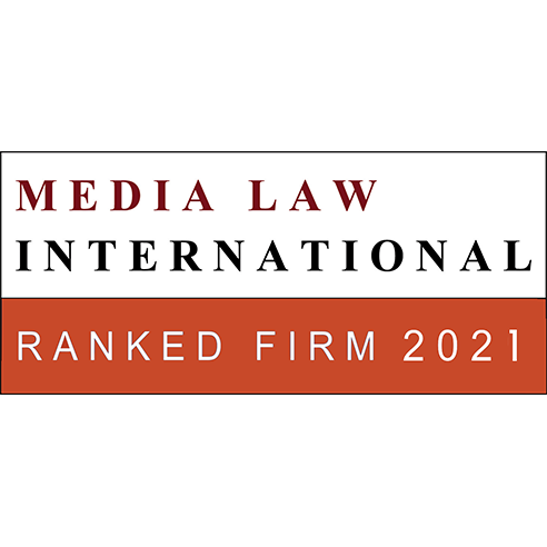 CRA recomendada no editorial Media Law International 2021 na área de Media Law